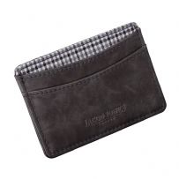 Jacob Jones 73508 Grey ID Card Case With Grey Checkered Cotton Lining